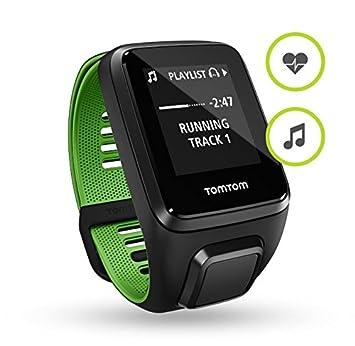 TOMTOM RUNNER 3 CARDIO ET MUSIC AVEC BRACELET FIN NOIR ET VERT Montre GPS avec cardio