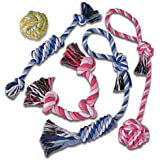 TOYSBOOM 5 piece Dog Rope Toys Puppy Flossy Chew Rope Tug Toy for Small, Medium Dogs, Value Pack Dog Toy