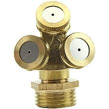 Kangnice® 2pcs Brass Agricultural Misting Spray Nozzle Garden Sprinkler Irrigation System