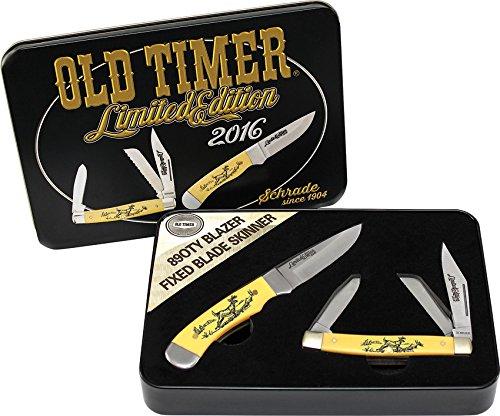 Schrade Knives PROM1632CP Old Timer Scrimshaw Set