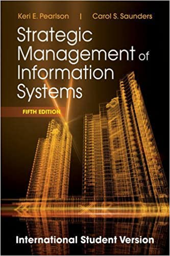 Book Strategic Management of Information Systems by Keri E. Pearlson (2012-11-06)