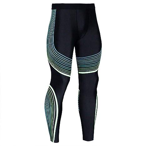 VECDY Hosen Herren Männer Bedruckte Hose Leggings Fitness Sport Gym Laufen Yoga Athletic Pants Stretchhose Freizeit Sporthose