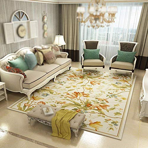 DEED Carpet-Hanging Basket Computer Swivel Chair Living Room Sofa Coffee Table Rug Pastoral American Household Carpets Bedroom Bedside Mat Entrance Hall Porch Water Absorption Quick-Drying,160230c