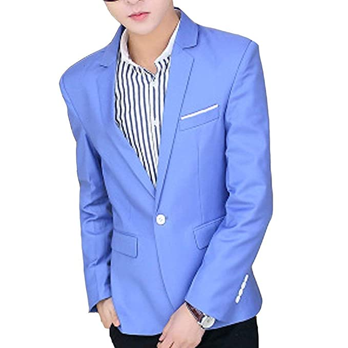 d592937630c302 Lanceyy Vestito da Uomo Casual Elegante da Uomo Elegante Slim Taglie Comode  Fit Giacca Monopetto Giacca Sportiva da Lavoro Abiti: Amazon.it:  Abbigliamento