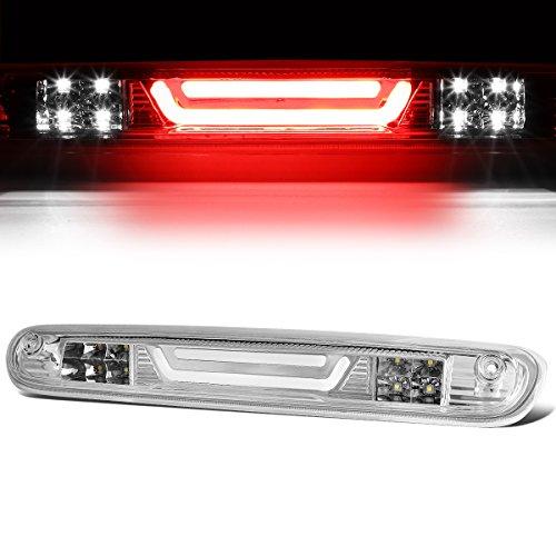 For Chevy Silverado/GMC Sierra 3D LED Bar 3rd Third Tail Brake Light Rear Cargo Lamp (Chrome/Clear)