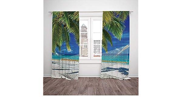 Juego de 2 cortinas opacas térmicas para ventana, diseño vintage ...