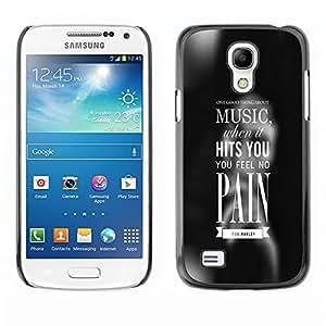 EJOY---Cubierta de la caja de protección la piel dura para el / Samsung Galaxy S4 Mini i9190 / --MÚSICA le golpea