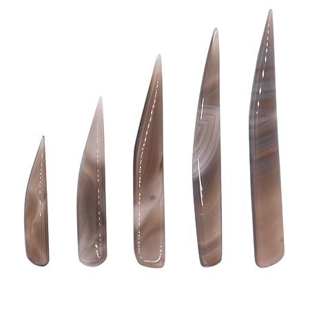 Bruñidor de cuchillo Ágata Cnmade, herramienta de pulido para oro y plata, 5 piezas