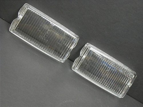 Porsche 911 930 (74-83) Fog Light lamp Lens Pair (x2)- OEM Brand NEW lenses
