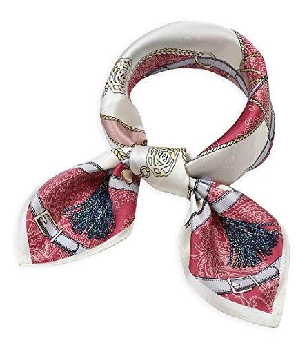 Women's Small Square 100% Real Mulberry Silk Scarfs Scarves 21