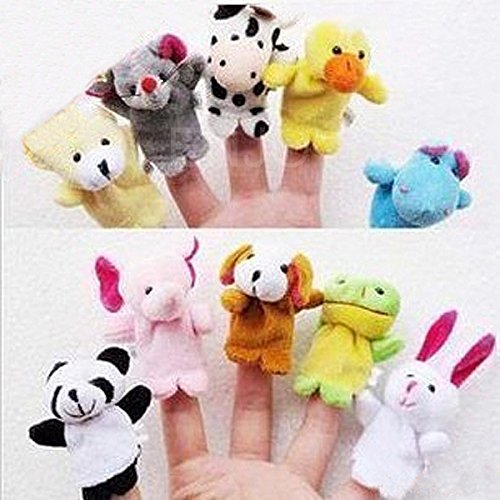 10pc Animal Finger Puppet Soft Plush Baby,Infant Educational and Development Hand Cartoon Toys (US Seller)