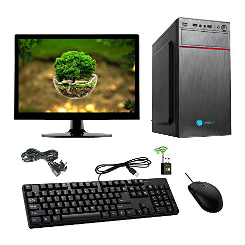 Gandiva Assembled Desktop  Core 2 Duo Processor, G31 Motherboard, 4  GB DDR2 RAM, 1 TB SATA HDD, 15.6  Monitor, WiFi  with pre Installed Windows 7 Tria