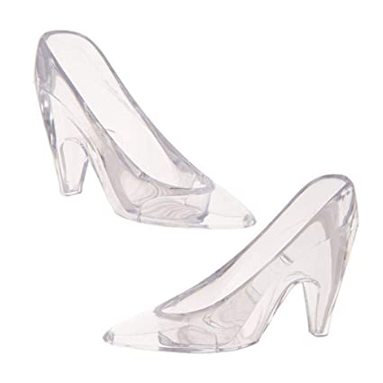 37d5c18c0d Amazon.com: Plastic Cinderella Slipper (8 Count) - Clear: Arts, Crafts &  Sewing