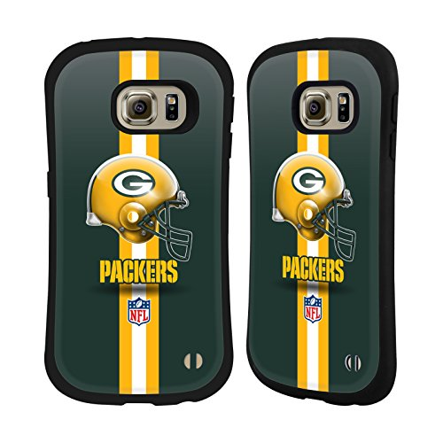 Official NFL Helmet Green Bay Packers Logo Hybrid Case for Samsung Galaxy S6 edge from Head Case Designs