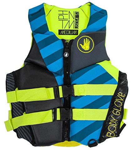 Body Glove Wetsuit Co Women's Phantom Neoprene US Coast Guard Approved PFD Life Jacket, Blue, Small Body Glove Neoprene Wetsuit