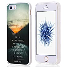 5S Case Bible Themes, Iphone SE 5 Case Christian Quotes Do Not Fear I Will Help You Isaiah 41:13