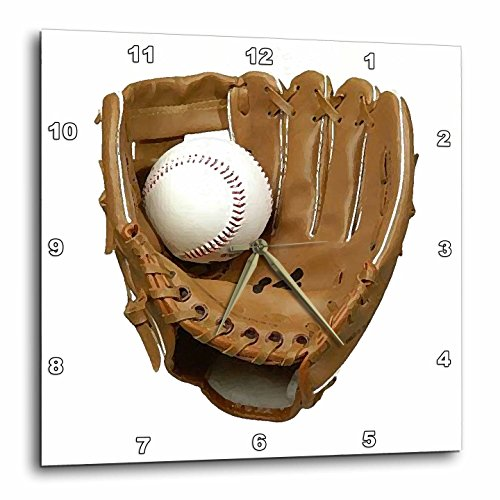 - 3dRose LLC Baseball Glove Wall Clock, 10 by 10-Inch