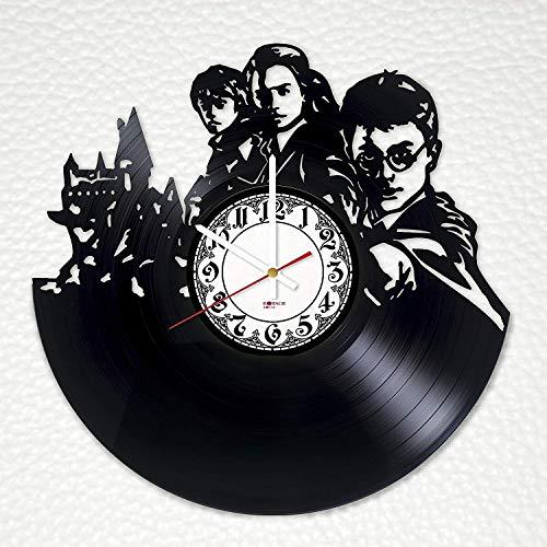 Harry Potter Magic Handmade Vinyl Record Wall Clock - Get unique nursery room or bedroom wall decor - Gift ideas for kids - Fantasy Movie Unique Design]()