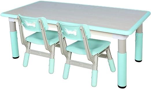 Children Desk Mesa Y Sillas De Plástico para Niños Mesa De ...