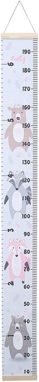 Rose, Taille Unique Carolilly R/ègle de Hauteur Enfant Tableau de Croissance Suspendu Murale Toise Amovible 200cm
