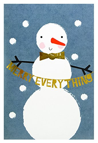 - The Gift Wrap Company 995419 Boxed Holiday Christmas Cards, 4 x 6-inches, Snowman To Celebrate