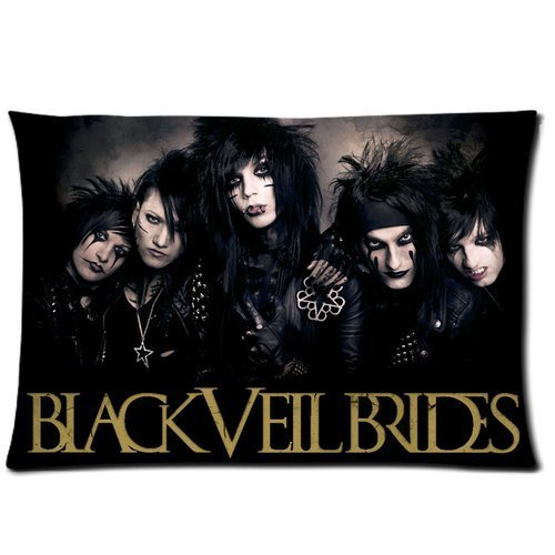 "Custom BVB Band Black Veil Brides Pillow Case Cover 30""x20"""