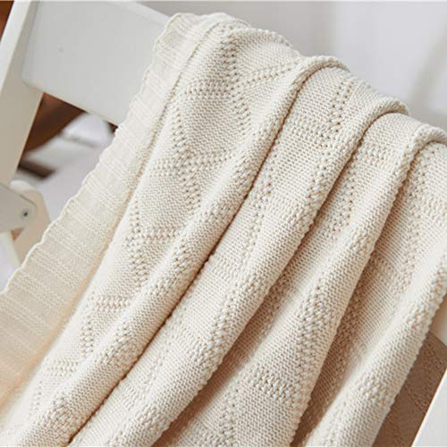 - Merryfeel 100% Cotton Cable Knit Throw Blanket 47