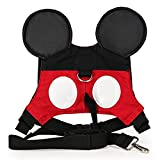 Ymeibe Toddler Anti-lost Harness Belt with Safety Leash Mini Strap for 1-3 Years Boys and Girls (Red)