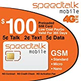 1 Year Prepaid SIM Card Talk Text Data $100 Service Included