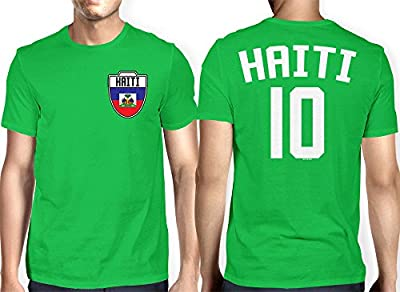 HAASE UNLIMITED Mens Haiti, Haitian - Soccer, Football T-Shirt