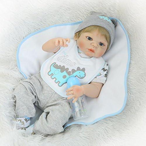 NPK Lifelike Reborn Baby Dolls Boy Silicone Full Body 22 Inches Anatomically Correct Realistic Newborn Baby Dolls