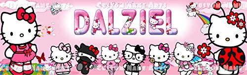 (Personalized Hello Kitty Poster Custom Name Painting Banner Wall Birthday)