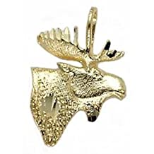 14K Gold MOOSE HEAD Jewelry FindingKing