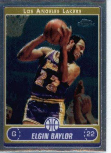 2006 Topps Chrome Card (2006 07 Topps Chrome Basketball Card #158 Elgin Baylor Los Angeles Lakers)