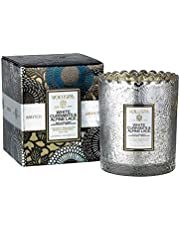 Voluspa Holiday - White Currants and Alpine Lace Boxed Scalloped Edge Glass Candle, 6.2 Ounces
