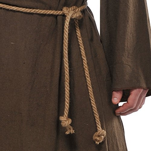 Friar Costume - Standard - Chest Size (Plus Size Monk Adult Costumes)
