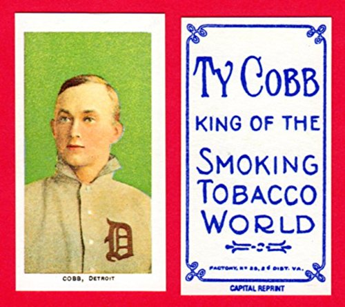Ty Cobb 1909 T206 Tobacco Baseball Reprint Card (Green Portrait) #1 (with Cobb Back) (Tigers)
