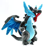Pokemon Mega X Charizard Soft Plush Stuffed Animals Doll Kids Toys 25 cm
