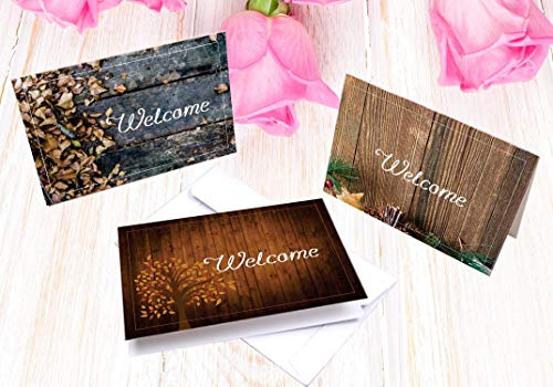 001 Greeting Card - Indian Premium Quality Linen Textured WELCOME CARD [6