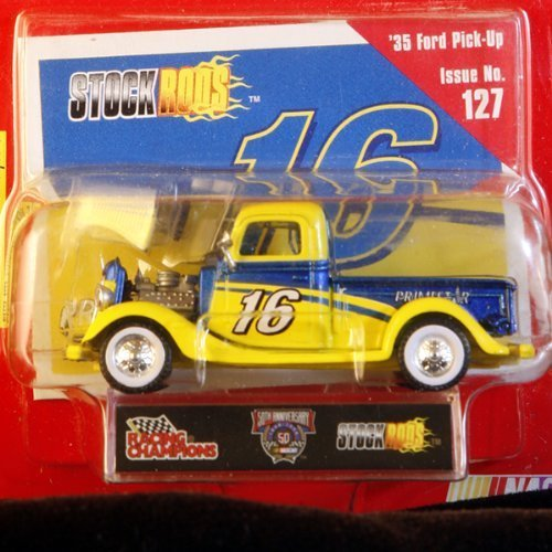- Racing Champions - Stock Rods Series - 3.25 inch Replica - NASCAR 50th Anniversary Limited Edition - #16 - 1935 Ford Pick-Up - Primestar - Issue #127