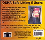 OSHA Safe Lifting, 5 Users, Farb, Daniel and Gordon, Bruce, 1594911436