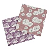 Milkbarn Organic Cotton Burp Cloths ''Lavender Hedgehog/Rose Floral''
