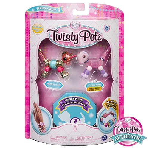 (Twisty Petz Collectible Bracelet Set, Unicorn, Puppy & Surprise Pet 3-Pack)