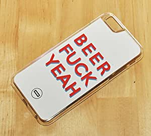 1888998115437 [Global Case] Beer Fuck Party Keep Calm Malt Hell Yeah Celebration Drink Beverage Food Bud Bubbles Yellow (TRANSPARENT CASE) Snap-on Cover Shell for Apple iphone 6 plus