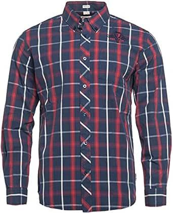 Lonsdale Camisa Saint Albans Men – Navy/Dark Red/Color Crudo ...