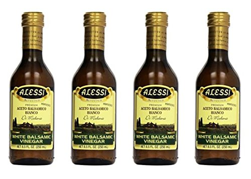 Alessi - White Balsamic Vinegar, 8.5 oz Pack of 4 by Alessi