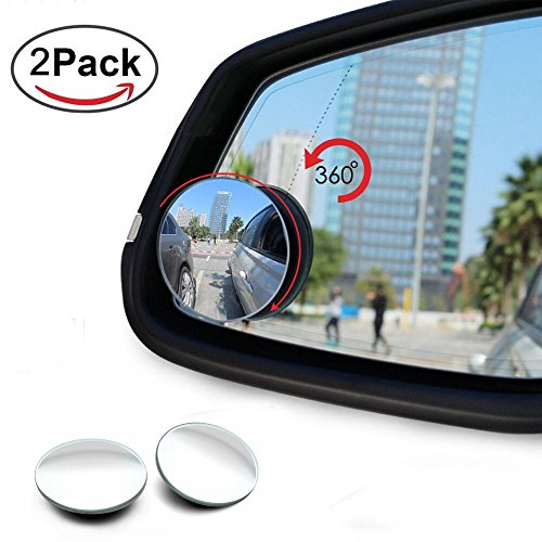 Blind Spot Mirror , Tengyu 360° Adjustable Blind Spot Mirrors Frameless HD Glass Convex Wide Angle Rear View for All Universal Vehicles - Pack of - Glasses Side Blinders For