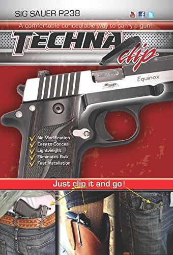 Techna Clip   Sig Sauer P238  380   Conceal Carry Belt Clip  Right Side