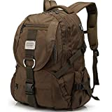 Travel Laptop Backpack - Extra Large College School Backpack for Men Women with Headphones Hole - Water-Resistant Durable Outdoor Travel Computer Daypack Backpack Fit 17 Inch Laptops Notebook (Brown)
