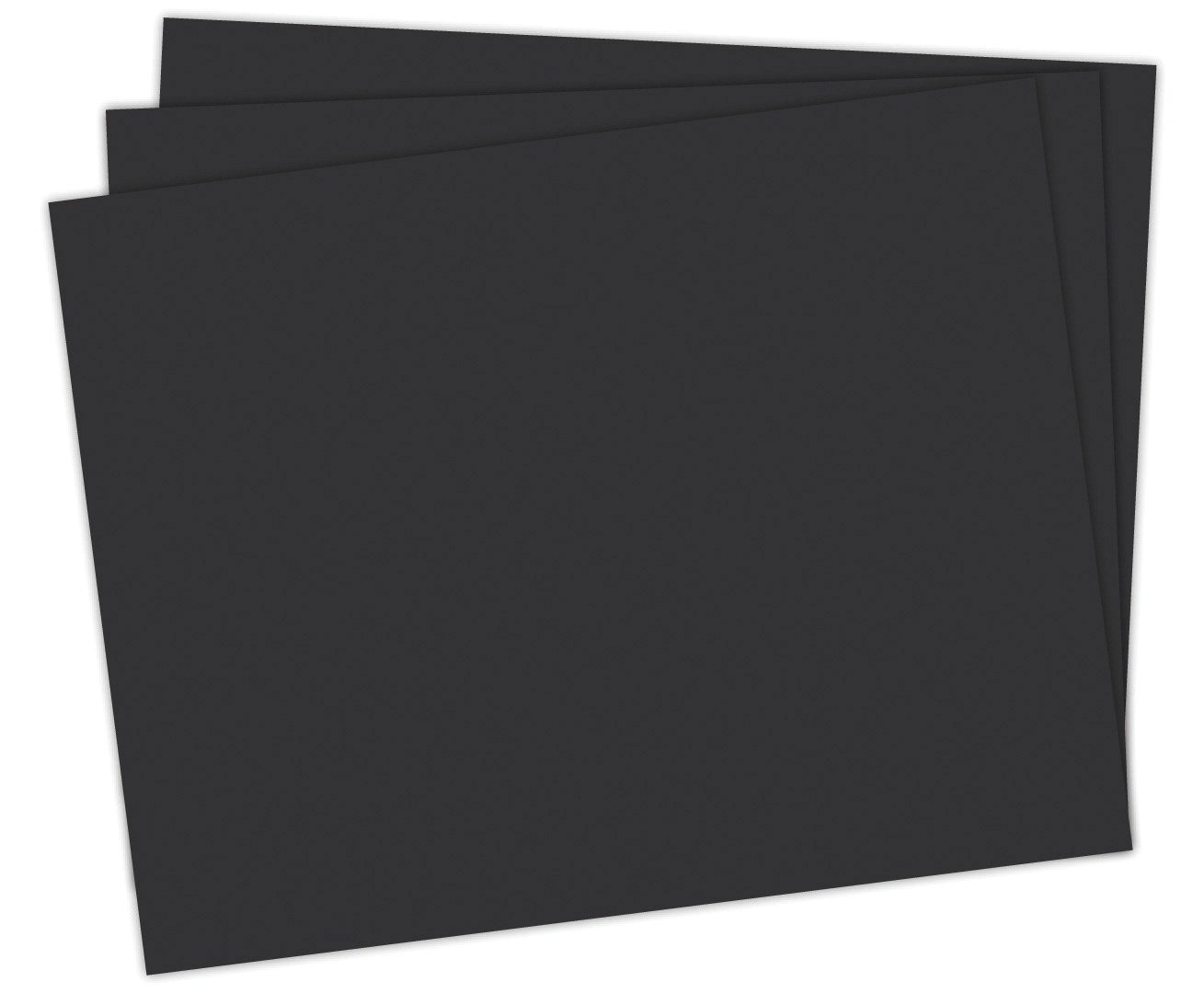 School Smart 1485728 Railroad Board, 4-ply Thickness, 22'' x 28'', Black (Pack of 25)